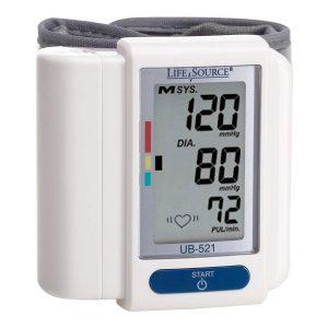 A&D Medical Life Source Digital Wrist Home Blood Pressure Monitor