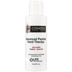 Advanced Peptide Hand Therapy 4 oz helps to rejuvenate and re-hydrate damaged skin.
