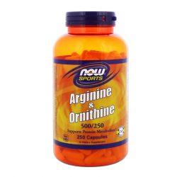 Arginine & Ornithine 500/250 100 capsules Now Foods supplement