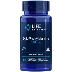D, L-Phenylalanine Capsules 100 vegetarian capsule supports mood and neurotransmitter health