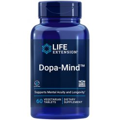 Dopa-Mind vegetarian tablets promotes youthful dopamine levels.