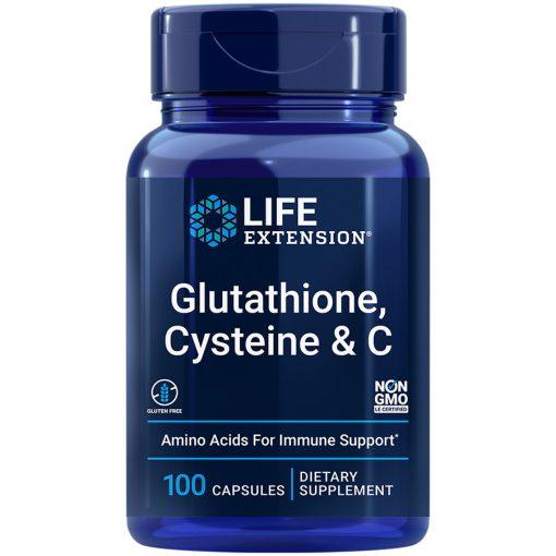 Glutathione Cysteine & C 100 vegetarian capsules a powerful antioxidant