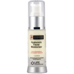 Life Extension Cosmesis Skin Care Hyaluronic Facial Moisturizer 1 oz, for a daily beauty boost