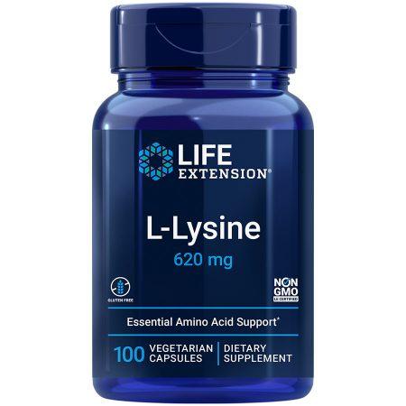 L-Lysine 100 capsules Essential amino acid for healthy nitrogen balance & more
