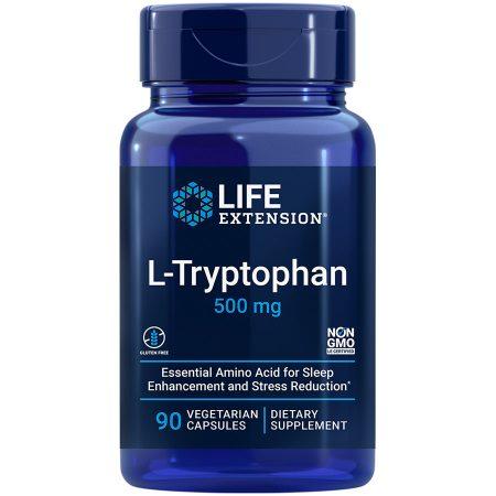L-Tryptophan 90 vegetarian capsules for healthy sleep mood stress response