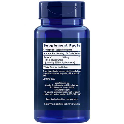 Lactoferrin Caps 60 capsules Supplement Facts
