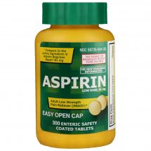Life Extension Aspirin Low Strength 81 mg 300 enteric-coated tablets Adult pain relief