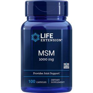 MSM Methylsulfonylmethane 1000 mg 100 capsules