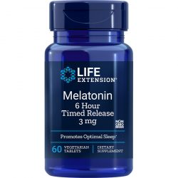Melatonin 6 Hour Timed Release 3 mg 60 vegetarian tablets