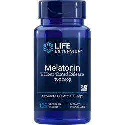 Melatonin 6 Hour Timed Release 300 mcg 100 vegetarian tablets