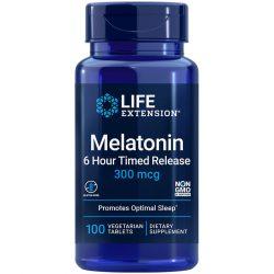 Melatonin 6 Hour Timed Release 300 mcg promotes optimal sleep & cellular health