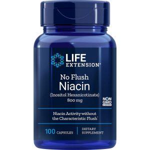 No-Flush Niacin 800 mg 100 capsules