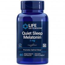 Quiet Sleep, Melatonin 60 vegetarian capsules - Life Extension