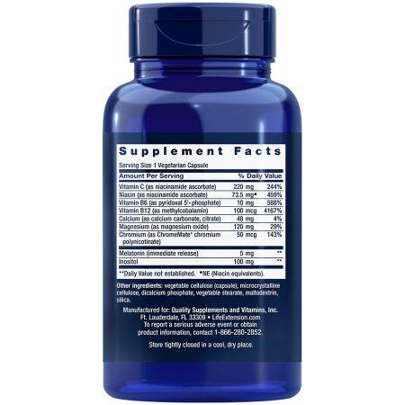 Quiet Sleep Melatonin, 5 mg, 60 vegetarian capsules Supplement Facts