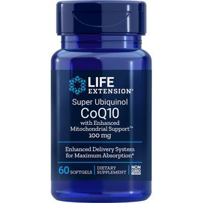 Super Ubiquinol CoQ10 with Enhanced Mitochondrial Support 100 mg 60 softgels