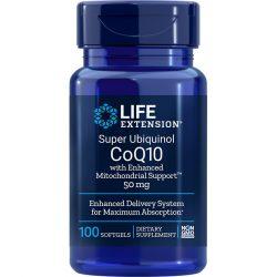 Super Ubiquinol CoQ10 with Enhanced Mitochondrial Support 50 mg 100 softgels