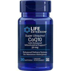 Super Ubiquinol CoQ10 with Enhanced Mitochondrial Support 50 mg 30 softgels