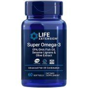 Super Omega-3 EPA/DHA Fish Oil, Sesame Lignans & Olive Extract, 60 softgels