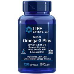 Super Omega-3 Plus EPA/DHA Fish Oil Sesame Lignans Olive Extract Krill & Astaxanthin