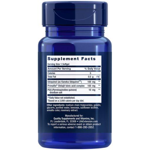 Super Ubiquinol CoQ10 with PQQ 100 mg 30 softgels supplement facts