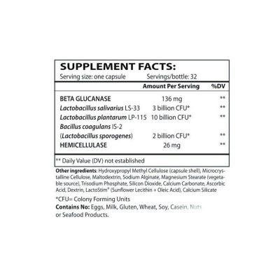 TruFlora Probiotics 32 capsules supplement facts