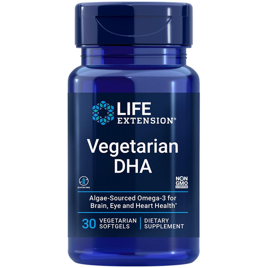 Vegetarian DHA 30 vegetarian softgels for brain health support