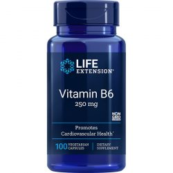 Vitamin B6, 250 mg 100 vegetarian capsules