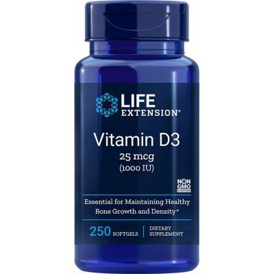 Vitamin D3 1,000 IU 250 softgels