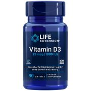 Vitamin D3 supplement 25 mcg (1000 IU), 90 softgels