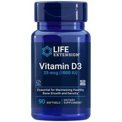 Vitamin D3 supplement 25 mcg (1000 IU), 90 softgels