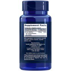 Zinc Caps, 50 mg, 90 vegetarian capsules Supplement Facts