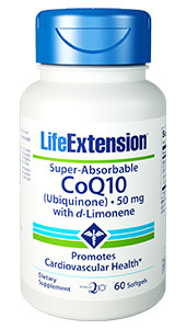 Super-Absorb-able CoQ10 (Ubiquinone) with d-Limonene
