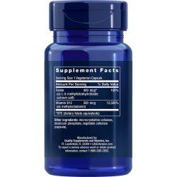 BioActive Folate & Vitamin B12 90 vegetarian capsules supplement facts