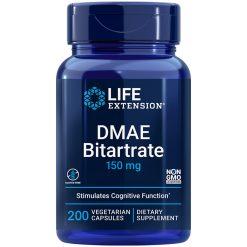 DMAE Bitartrate dimethylaminoethanol 200 capsules supports essential neurotransmitter production