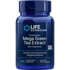 Decaffeinated Mega Green Tea Extract 100 vegetarian capsules