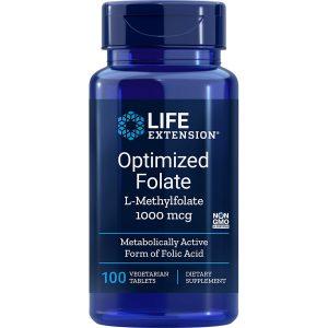 Optimized Folate L-Methylfolate 1000 mcg 100 vegetarian tablets