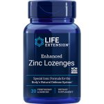 Zinc Lozenges Enhanced 30 peppermint vegetarian lozenges