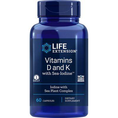 Vitamins D and K with Sea-Iodine 60 capsules