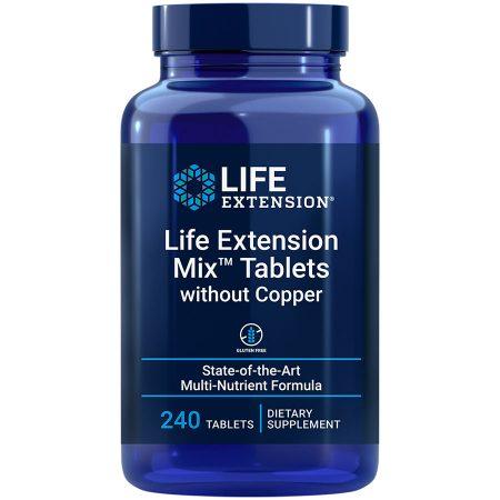 Life Extension Mix Tablets without Copper 240 tablets comprehensive fruit & vegetable supplement
