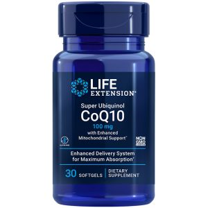 Super Ubiquinol CoQ10 with Enhanced Mitochondrial Support benefits include cell energy, heart & brain health