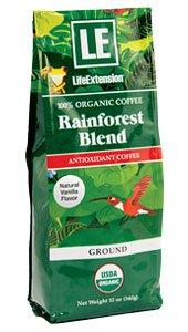 Rainforest Blend Ground Coffee Natural Vanilla Flavor