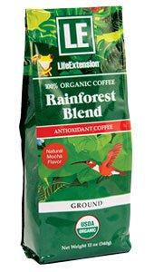 Rainforest Blend Ground Coffee Natural Mocha Flavor - 100% certified organic Arabica bean coffee