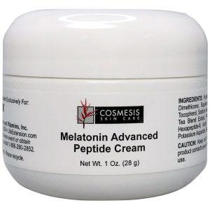 Cosmesis Melatonin Advanced Peptide Cream 1 oz for nightly rejuvenation and renewal