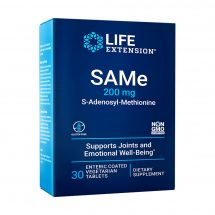 SAMe S-Adenosyl-Methionine 200 mg, 30 tablets for mood, joint & liver support