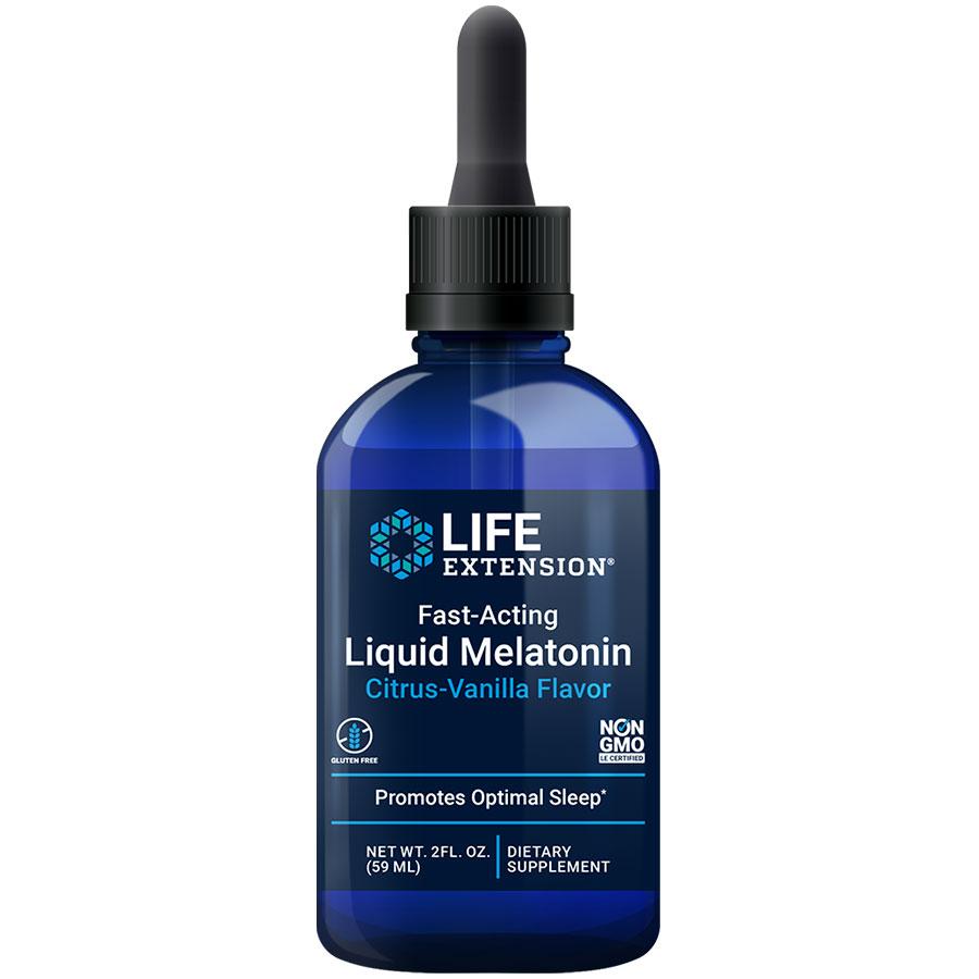 Fast acting liquid melatonin supports healthy sleep & cellular health
