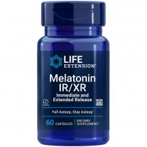 Melatonin IR/XR sleep supplement for approximately seven hours of healthy sleep
