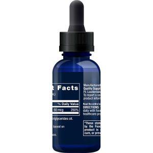Liquid Vitamin D3 2,000 IU 1 fl oz supplement facts B