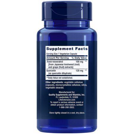 Resveratrol 100 mg 60 vegetarian capsules Supplement Facts