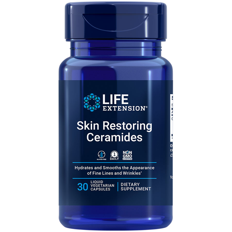 Skin Restoring Ceramides supplement that hydrates & smooths the appearance of fine lines & wrinkles