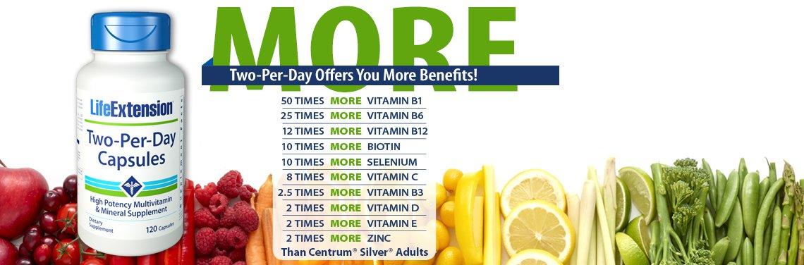 two per day multi-vitamin